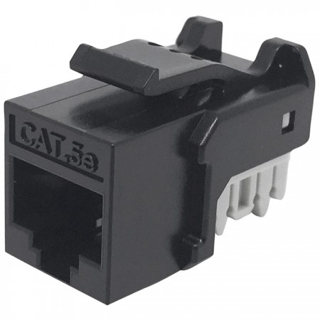 Cat5E UTP 90° 110 Punch Down RJ45 Keystone Jack - CAT5e UTP RJ45 Keystone Jack
