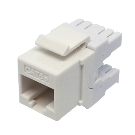 Cat5E UTP 180° 110 and Krone punch down RJ45 Keystone Jack - C5e UTP 180degree punch down KSJ