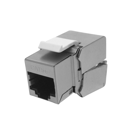Cat5E STP 180° 110 and Krone punch down RJ45 Keystone Jack - C5e STP 180degree punch down KSJ