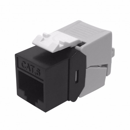 Cat6 UTP 180° Toolless RJ45 Keystone Jack - Cat 6 UTP 180 degree toolfree BLACK COLOR keystone jack
