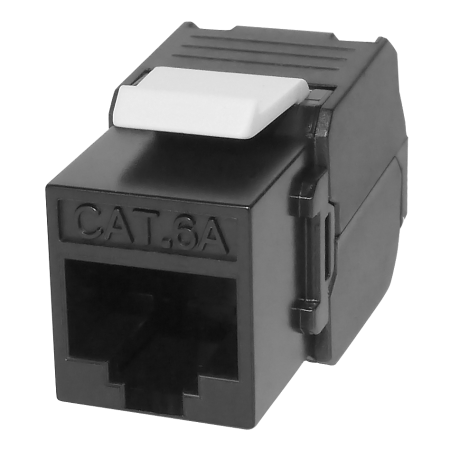 Cat 6A UTP 180° Toolless RJ45 Keystone Jack