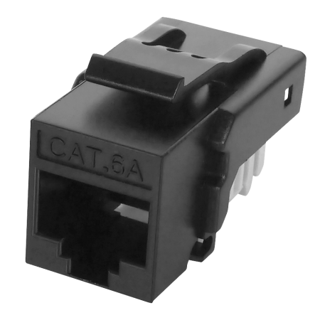 Cat 6A UTP 90° Toolless RJ45 Keystone Jack