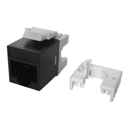Cat6 UTP 180° 110 and Krone Punch Down RJ45 Keystone Jack Slim Type - Cat 6 Unshielded Female 110/KRONE punch down KSJ