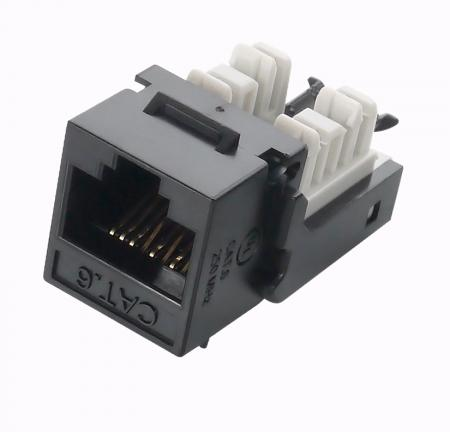Cat6 UTP 90° Component Level Toolfree RJ45 Keystone Jack - Cat 6 RJ45 90 Degree Female Network Connector Keystone Jack