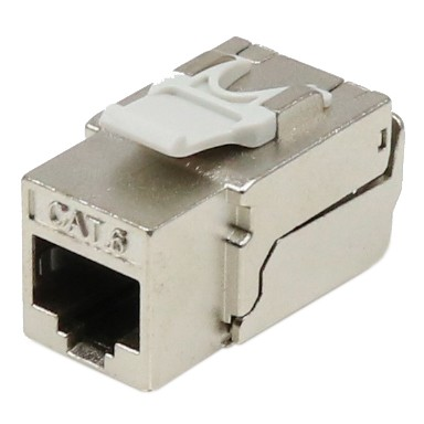 Cat6 STP 90° Toolless RJ45 Keystone Jack - Cat 6 Shielded Punch Down and Toolfree dual function KSJ