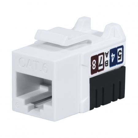 Cat6 UTP 90° 110 Punch Down RJ45 Keystone Jack - Cat 6 Unshielded Female 110 punch down KSJ