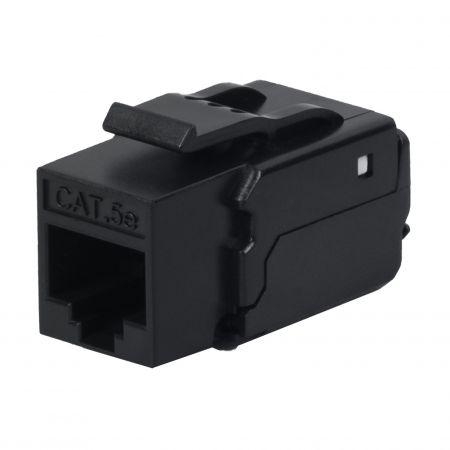 Cat. 5E UTP 90 Degree Tool Free Keystone Jack - Cat5E 90 degree toolfree unshielded, black color