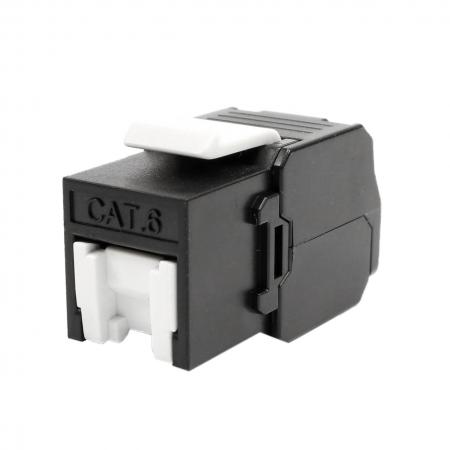 Cat6 UTP 180° Toolless RJ45 Keystone Jack With Shutter
