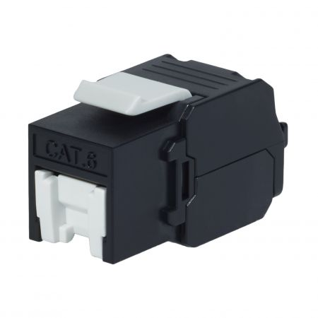 Cat6 UTP 180° Toolless RJ45 Keystone Jack With Shutter - Cat 6 UTP RJ45 Toolless Keystone Jack