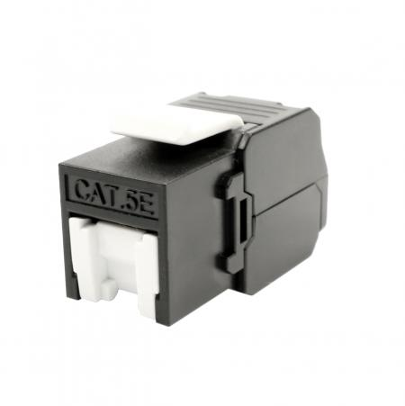 Cat5E UTP 180° Toolless RJ45 Keystone Jack With Shutter