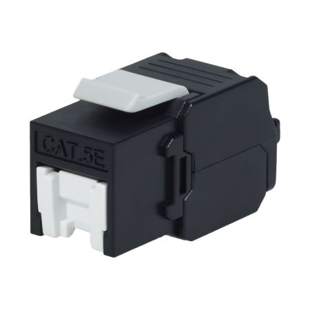 Cat. 5E UTP 180 Degree Tool Free RJ45 Keystone Jack With Shutter - Cat5E UTP RJ45 Toolless Keystone Jack