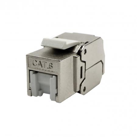 Cat6 STP 180° Toolless RJ45 Keystone Jack With Shutter