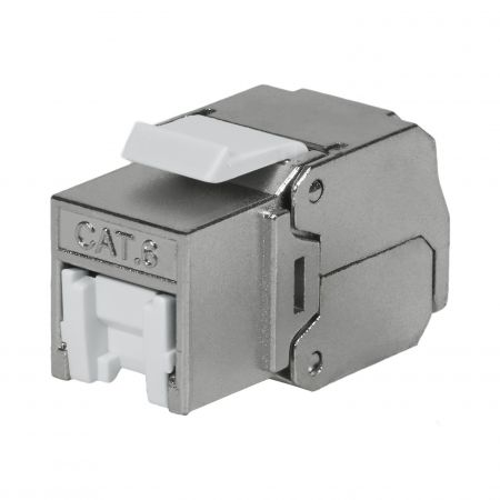 Cat6 STP 180° Toolless RJ45 Keystone Jack With Shutter - Cat 6 FTP 180 Degree Toolless Keystone Jack with shutter