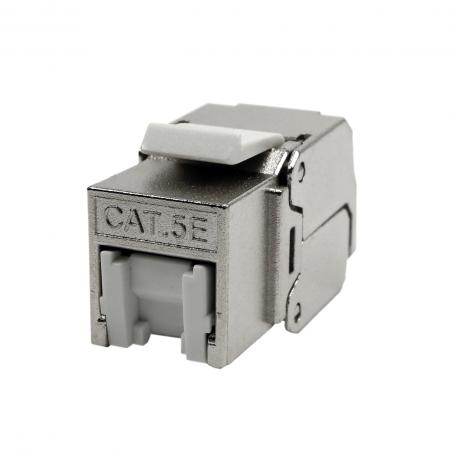 Cat5E STP 180° Toolless RJ45 Keystone Jack With Shutter - CAT5e FTP RJ45 Keystone Jack