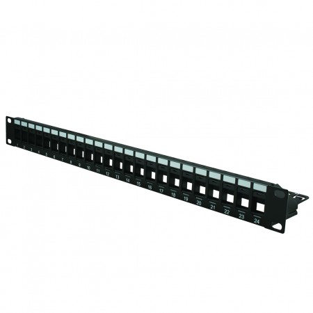 1U 24 Port UTP Blank Keystone Patch Panel - 1U 24PORT UTP Empty Panel