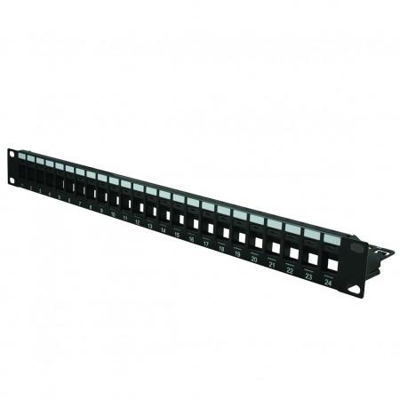 1U 24-Port-UTP-Blank-Patchpanel - 1U 24PORT UTP leeres Panel