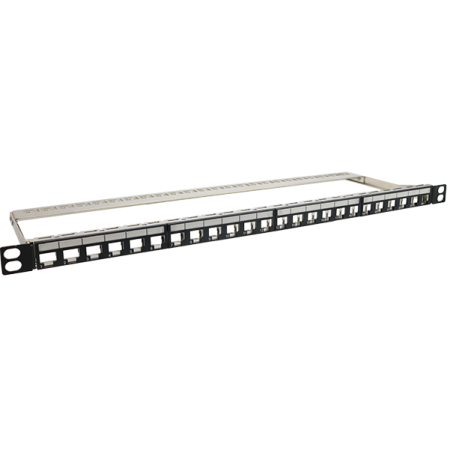 0,5U 24 PORT FTP Üres panel - Nagy sűrűségű 0,5u 24 portos árnyékolt üres panel