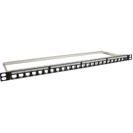 0,5U 24 PORT FTP üres panel - Nagy sűrűségű, 0,5u 24 portos árnyékolt üres panel