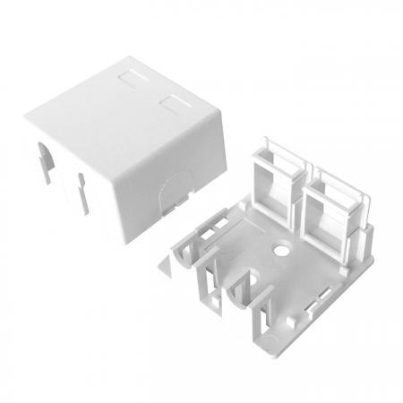 مربع تركيب السطح 2 منفذ - مربع تركيب السطح 2 منفذ