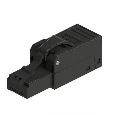 Macska. 6 UTP mező lezáró dugó, fekete - Cat6 UTP fekete szerszám nélküli RJ45 csatlakozó