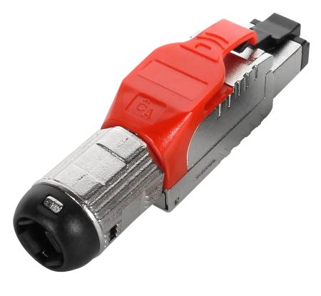 Kat. 6A STP mező lezáró dugó, piros - Kat. 6A Teljesen árnyékolt szerszám nélküli dugó