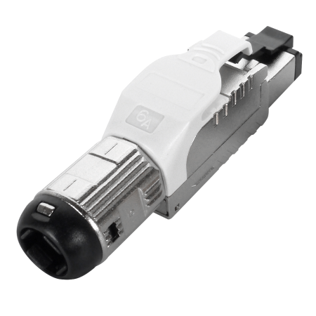 Cat 6A STP White Field Termination RJ45 Connector