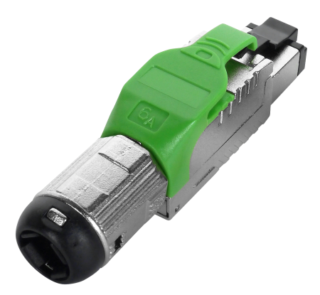 Cat 6A STP Green Field Termination RJ45 Connector - Cat 6A full shielded toolless plug