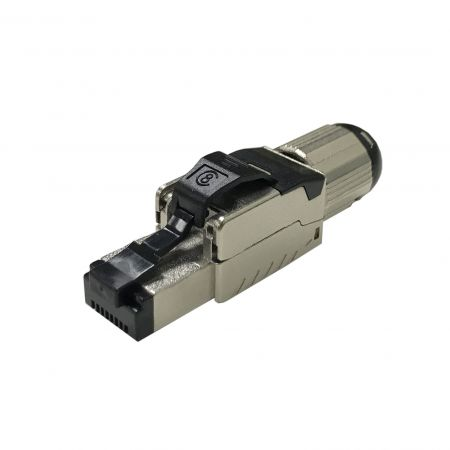 Cat8 STP Short Body Field Termination RJ45 Connector - Cat.8 full shielded short body toolfree plug
