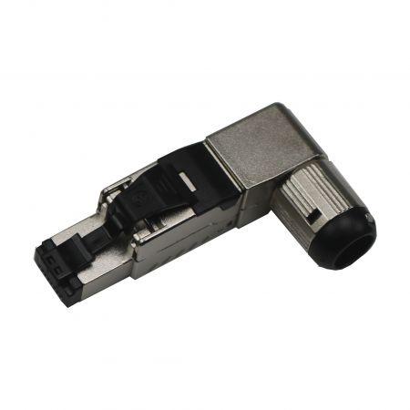 Cat.8 STP سدادة إنهاء المجال خماسية الزوايا - Cat.8 قابس خالي من الأدوات محمي بالكامل بخمسة اتجاهات