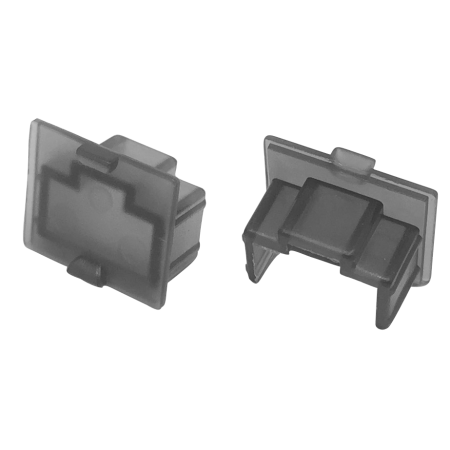 RJ45 Keystone Jack Dust Cover Transparent Black - RJ45 Jack Snap-In Dust Cover, Inside Jack