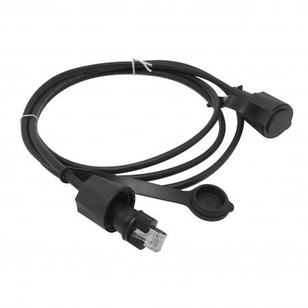 IP68 ipari Cat5E STP RJ45 patch kábel - IP68 ipari Cat5e teljes árnyékolású patch vezeték
