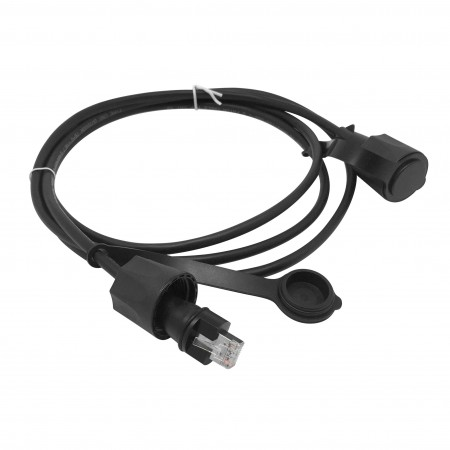 IP68 Industrial Cat5E STP RJ45 Patch cord - IP68 Industrial Cat5e Full Shielded Patch lead