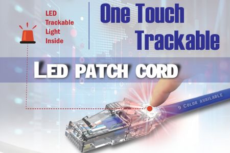 One Touch Trackable LED Patch Cord