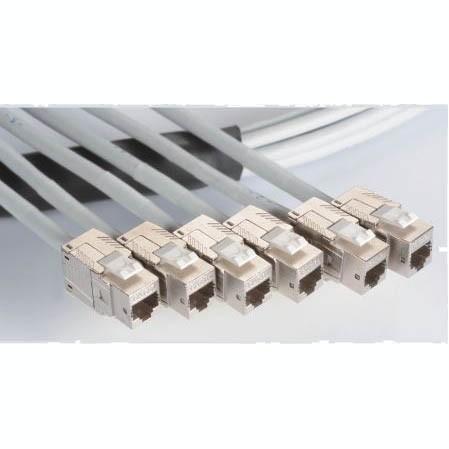 C6A SFTP 23AWG tömör vezetékes főkábel - 6 portos törzsegységek, C6A SFTP tömör vezetékes kábel, KJ58