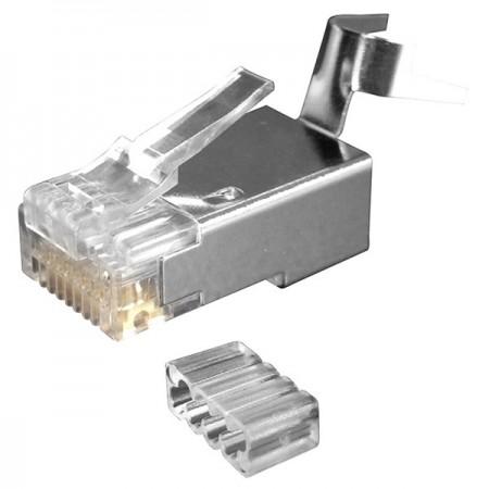 Conector RJ45 Cat 6A - Cableado Ethernet Enchufes modulares Conector Cat6a RJ45