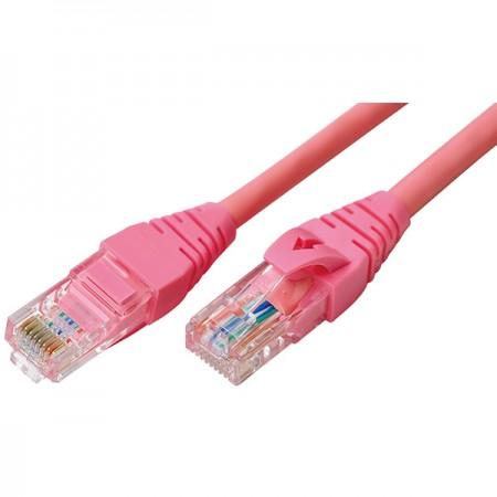 CAT5e patch kábelek - Cat 5E rózsaszín patch kábel