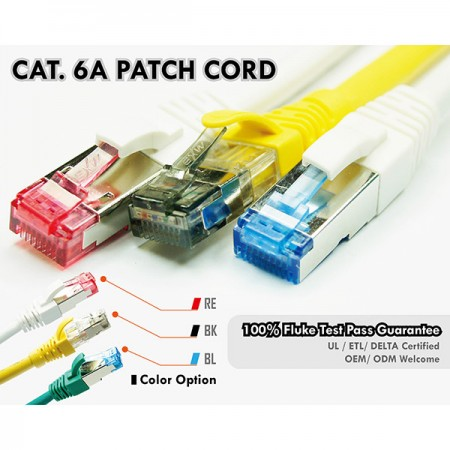 CAT6A patch kábelek - Cat 6A patch kábelek színes házdugókkal