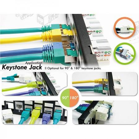 CAT.5E Keystone csatlakozók - 5E kategóriás Keystone Jack