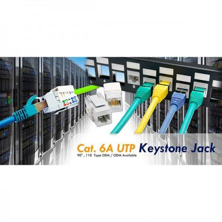 CAT.6A Keystone csatlakozók - 6A kategória UTP Keystone Jack