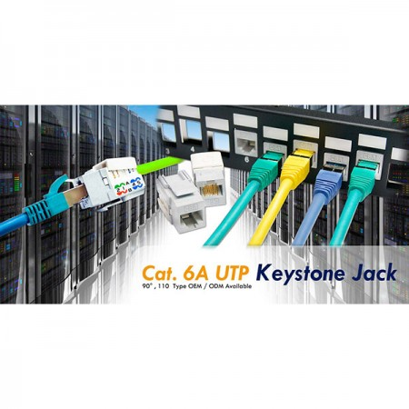 RJ45 Cat. 6A Keystone Jacks