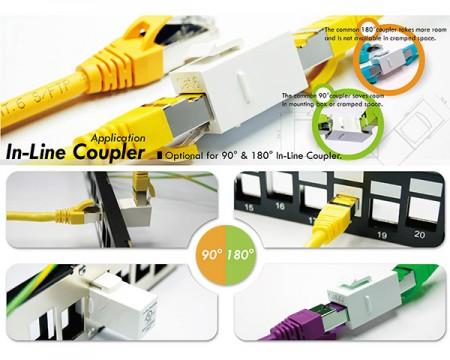 Beépített csatolók - Beépített csatlakozó aljzatú csatlakozók
