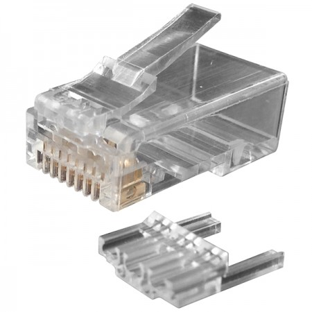 Cat.6 UTP moduláris dugó teherrúddal és akadozó retesszel