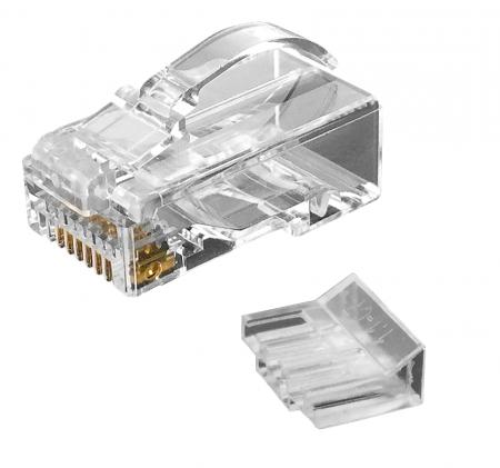 Katze. 6 UTP-Staggered Modular Plug mit Snagless-Latch (6 Up 2 Down) - Cat6 UTP RJ45 VERBINDUNGSSTECKER