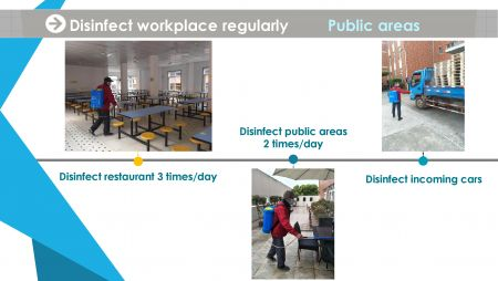 Disinfect working place regularly