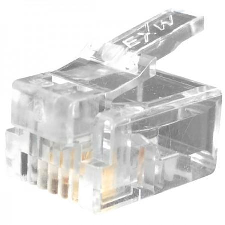 RJ11 6P4C moduláris csatlakozó - Telefondugó 6P4C RJ11 csatlakozó
