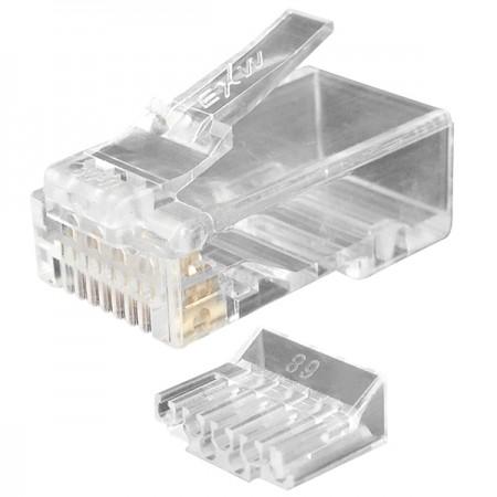 Macska. 6 UTP lépcsőzetes moduláris dugó terhelésrúddal (4 Up 4 Down) - Cat6 UTP RJ45 CSATLAKOZÓ DUGAT