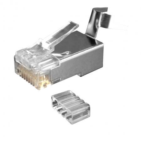 Cat.6A STP nagy átmérőjű moduláris dugó - Cat.6A STP nagy OD csatlakozó tömör és sodrott Ethernet kábelekhez