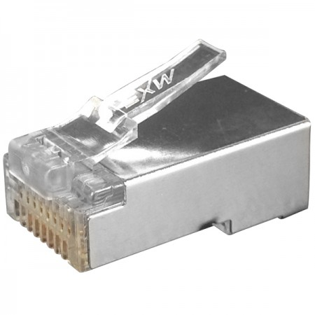 Cat6 STP T Type RJ45 Connector - Cat6 STP RJ45 Connector Plug, One Pc Design