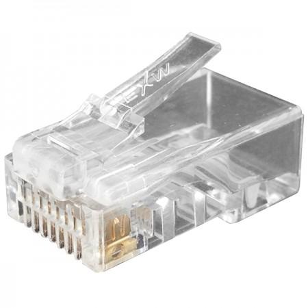 Cat.6 UTP lépcsőzetes moduláris csatlakozó (4 fel 4 le) - Cat6 UTP RJ45 CSATLAKOZÓ DUGÓ, EGY PC TERVEZÉS