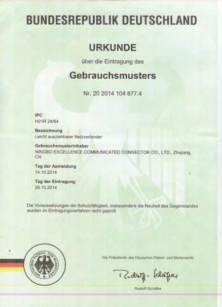 Easy Patch zsinór Németország szabadalma